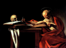 Saint Jerome writing - Caravaggio